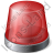 Emergency Lighting Red Icon, PNG/ICO, 48x48