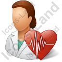 Cardiologist Female Icon, PNG/ICO, 128x128