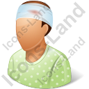 Patient Injured Male Icon, PNG/ICO, 128x128