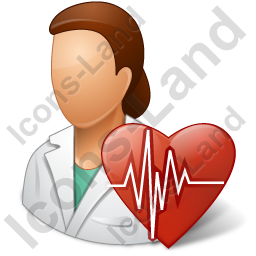 Cardiologist Female Icon, PNG/ICO, 256x256