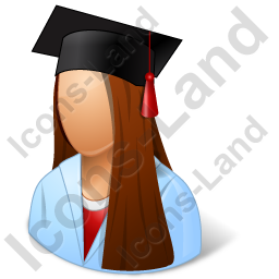 Medical Student Female Icon, PNG/ICO, 256x256