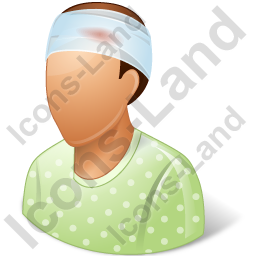 Patient Injured Male Icon, PNG/ICO, 256x256