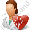 Cardiologist Female Icon, PNG/ICO, 64x64