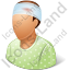 Patient Injured Male Icon, PNG/ICO, 64x64