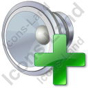 Audio Increase Icon, PNG/ICO, 128x128