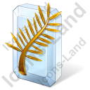 Award Golden Palm Icon, PNG/ICO, 128x128
