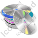 CD Library Icon, AI,