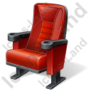 Cinema Chair Icon, PNG/ICO, 128x128