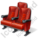 Cinema Chairs Icon