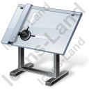 Drawing Board Icon, PNG/ICO, 128x128