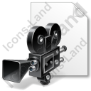 File Movie Camera Retro Icon, PNG/ICO, 128x128
