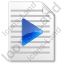 File Playlist Icon, PNG/ICO, 128x128
