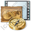 Film Genre Adventure Icon, PNG/ICO, 128x128