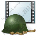 Film Genre War Combat Helmet Icon, AI,