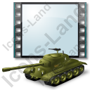 Film Genre War Tank Icon, PNG/ICO, 128x128
