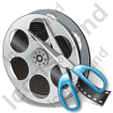 Film Reel Cut Icon, PNG/ICO, 128x128