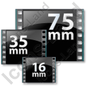 Film Formats Icon, PNG/ICO, 128x128
