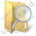 Folder Search Icon, PNG/ICO, 128x128