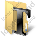 Folder Texts Icon, PNG/ICO, 128x128