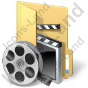 Folder Video Icon, PNG/ICO, 128x128