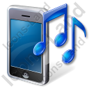 Mobile Phone Ringtone Icon, PNG/ICO, 128x128