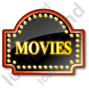Movie Theater Sign 1 Icon, PNG/ICO, 128x128