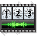Movie Sound Frames Horizontal Icon
