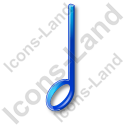 Music Notation Note 4 Icon, PNG/ICO, 128x128