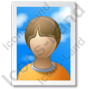 Picture Portrait Icon, PNG/ICO, 128x128