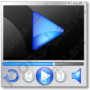 Player Mode Play 2 Icon, PNG/ICO, 128x128