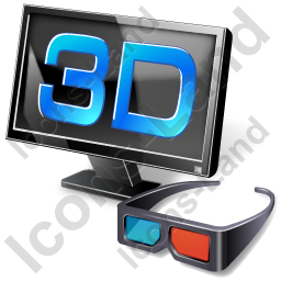 3D LCD Display Glasses Icon, AI, 256x256