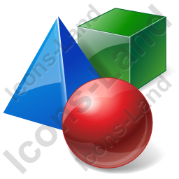 3D Models Icon, PNG/ICO, 256x256