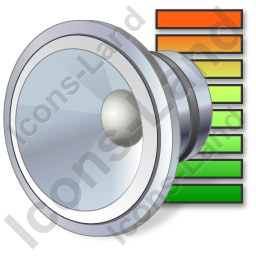 Audio Level Icon, PNG/ICO, 256x256