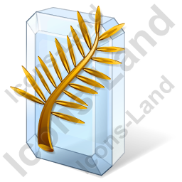 Award Golden Palm Icon, PNG/ICO, 256x256