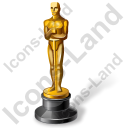 Award Oscar Icon, AI, 256x256