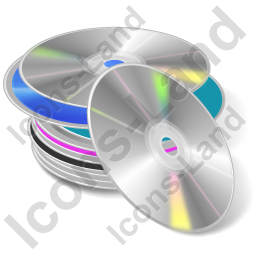 CD Library Icon, AI, 256x256