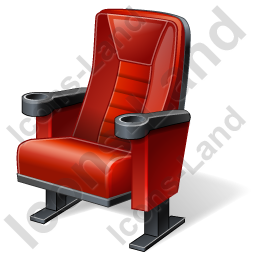 Cinema Chair Icon, PNG/ICO, 256x256