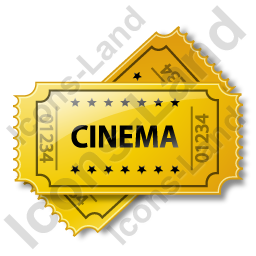 Cinema Ticket Icon, PNG/ICO, 256x256