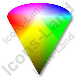 Colors HSV Cone Icon, PNG/ICO, 256x256