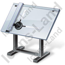 Drawing Board Icon, PNG/ICO, 256x256