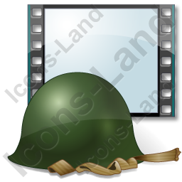 Film Genre War Combat Helmet Icon, AI, 256x256