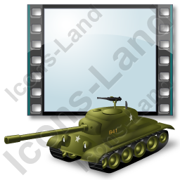 Film Genre War Tank Icon, PNG/ICO, 256x256