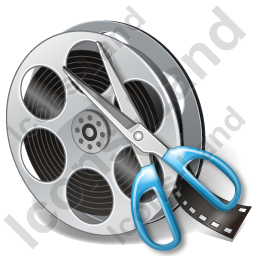 Film Reel Cut Icon, PNG/ICO, 256x256
