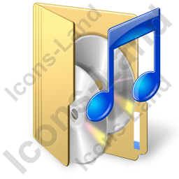Folder Audio Icon, PNG/ICO, 256x256