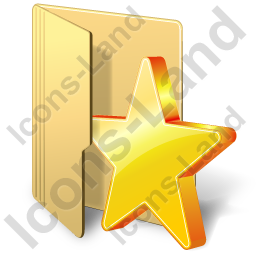 Folder Favorites Icon, PNG/ICO, 256x256