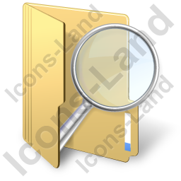 Folder Search Icon, PNG/ICO, 256x256