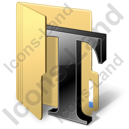Folder Texts Icon, PNG/ICO, 256x256