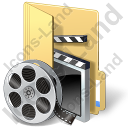 Folder Video Icon, PNG/ICO, 256x256