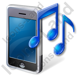 Mobile Phone Ringtone Icon, PNG/ICO, 256x256
