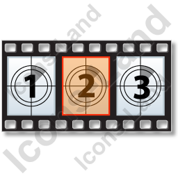 Movie Frame Horizontal Icon